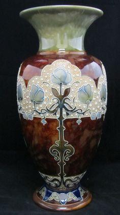 Doulton Lambeth Vase, Art Nouveau design by Frank Butler, circa 1900