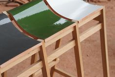 Kawara Bench | Studio Tsuyoshi Hayashi - Designed to salvage Japanese roof tiles which are to be discarded.