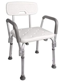 TMS Adjustable Medical Shower Chair Bathtub Bench Bath Seat Stool Armrest Back White * Offer can be found by clicking the image Shower Chair, Shower Seat, Shower Benches, Bath Shower, Bath Chair For Elderly, Bathtub Bench, Leather Bean Bag Chair, Bathroom Safety, Mesas