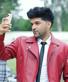 Guru Pics, Red Leather, Leather Jacket, Smile Face, My Dream, Jackets, Clothes, Fashion, Studded Leather Jacket
