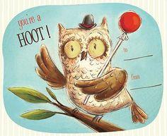 Owl Valentine Cards #owl #valentine #card #printable #free #download #hoot