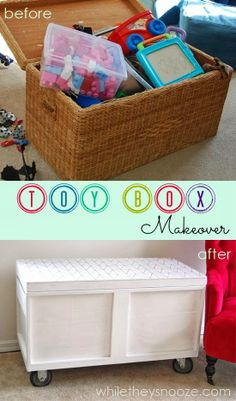 While They Snooze: Toy Box Makeover