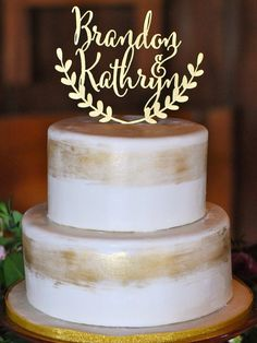 Personalized wedding cake topper custom cake by CorkCountryCottage