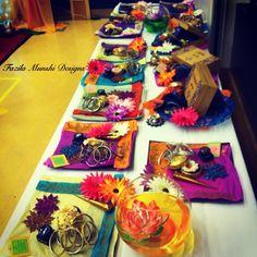 Gift favor ideas for your Mehendi! Wedding Henna, Wedding Mandap, Wedding Stage, Dream Wedding, Wedding Gifts For Guests, Wedding Favors, Monsoon Wedding, Mehndi Night, Reception Backdrop