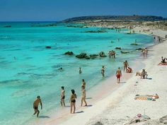 Elafonisi beach, the pearl of Crete island