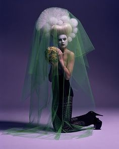 Jean-Francois Carly - green tulle marie