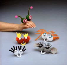 styrofoam balls, wiggly eyes, pipe cleaners and scraps = fun