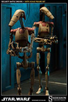 Security Battle Droids - Star Wars Sixth Scale Figure Set of 2 Star Wars Clones, Star Wars Clone Wars, Star Wars Set, Star Wars Ships, Call Of Duty, Vaisseau Star Trek, Guerra Dos Clones, Figurine Star Wars, Film Science Fiction