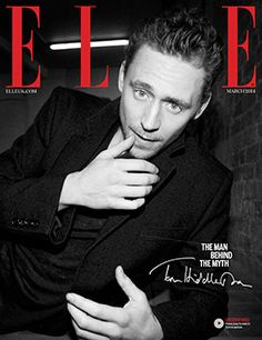 Tom Hiddleston ELLE cover by Mari Sarai Its March ed with Lily Allen on the front (not Tom) but OMFG!!