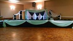 Beautiful backdrop created by Karen's Bridal and Gifts
