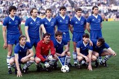 Everton XI v Rapid Vienna, Cup Winners' Cup Final, Rotterdam, 15 May 1985. (Bob Thomas/Getty)