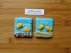GOLDFISH Chocolate Covered Graham Crackers (12) - Goldfish Birthday/Under the Sea Favors/MERMAID PARTY