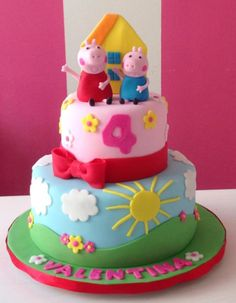 Peppa Pig is actually a United kingdom preschool computer animated television set sequence focused and Tortas Peppa Pig, Bolo Da Peppa Pig, Fiestas Peppa Pig, Peppa Pig Birthday Cake, Peppa Pig Party Supplies, Bolo Fack, Bolo Moana, Themed Cakes, Party Cakes