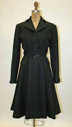 Edward Molyneux   Coat  French  ca.1948  Wool