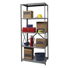 "Hallowell Hi-Tech Shelving Duty Open Type 4 Shelf Shelving Unit Starter Size: 87"" H x 48"" W x 12"" D"
