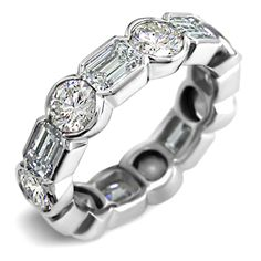 Get the latest designed ladies anniversary or wedding rings at low price from Dimend SCAASI a Chicago based diamond jeweler.