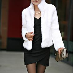 Fake Fur Plus Size Women Coat, different size for choice, Solid, more colors for choice - yyw.com