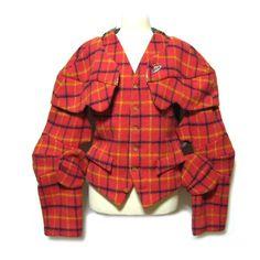 【楽天市場】【USED】 '1988 Vivienne Westwood England タータンチェックアーマージャケット・ベスト tartan check pattern armor jacket MAN マン ヴィヴィアンウエストウッド 税抜¥3000以上 日本全国【送料無料】■JK 【中古】:JIMU