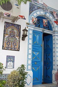 Door in Nabeul, Tunisia by Malcolm Bott, via Flickr