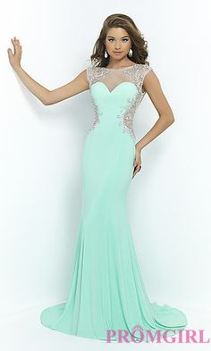 Blush High Neck Prom Dress by Blush at PromGirl.com