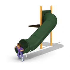 2481 Tube Slide 24 24 Degree Right Deck Slide, Kids Slide, Kidsroom, Playground Slides, Sun Lounger, Tube, Playgrounds, Backyard Ideas, Campers