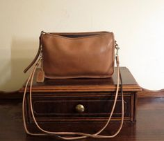 Coach Basic Bag In Saddle Leather With Detachable 36 Inch Strap- VGC