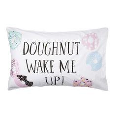 Adairs Kids Text Pillowcase Doughnut, kids pillow case, kids rooms