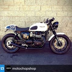 Always nice to see what happens to bikes after they leave our dealership. #Repost @motochopshop ・・・ 2015 Triumph Thruxton Ace Cafe Special Edition. Customized by Moto Chop Shop for @msmetcal. Some mods include: D&D Exhaust, NARK airbox removal, Hagon Shocks, ECU remap, diamond stitched seat & BC fender eliminator. @newbonne @british_customs @thruxtonsonly @triumphamerica @ironandair @triumphnation @caferacerporn @caferacersofinstagram @caferacerxxx @caferacertv @socalmotobrea…