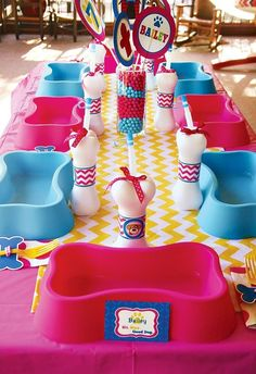 Dog Party: This girly dog party has lots of great ideas for fun decor and treats.