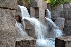 my favorite of the monuments in Washington DC: the FDR memorial