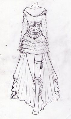 Steampunk clothes drawing