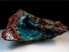 Rosasite - Mapimi, Mexico.  Example of the mineral rocks that were mined....