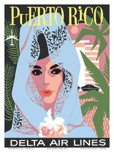 Puerto Rico Vintage Travel Poster {NOTE}
