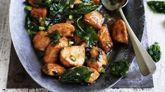 One for the spice-lovers: Sichuan-style chicken stir-fry with basil - ready in less than an hour.