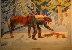 Maatiaismuori: Kansansatu Kettu ja kalastaja Painting, Painting Art, Paintings, Painted Canvas, Drawings