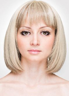 Shattered Chic Blonde Bob