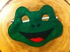 Items similar to Frog Felt Mask. dress up. Squirrel Costume, Frog Costume, Capes For Kids, Mask For Kids, Kids Church Games, Frog Mask, Felt Kids, Frog Crafts, Alcohol Ink Crafts