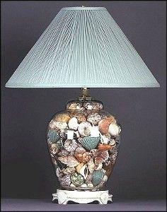 fillable glass table lamps jars pinterest shell lamp glass