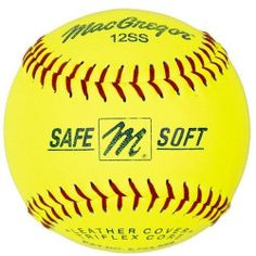 "MacGregor One Dozen 12"" Safe/Soft Training Yellow Cover Softballs MCSB12SS"