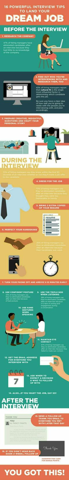 17 Things Not To Say In A Job Interview Infographic | My bucket list ...