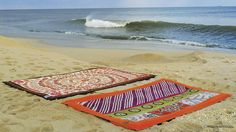 Sticky mats and sand don't mix, so try this beach blanket instead.