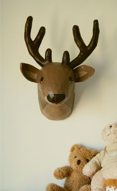 Paper mache Deer Head by lafactoriaplastica on Etsy, $89.00