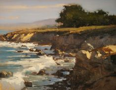 BoldBrush Painting Competition Winner - April 2012 | Winter Surf in Paciifc Grove by Brian Blood