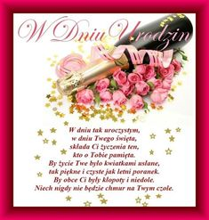 Happy B Day, Happy Birthday, Hair Accessories, Postcards, Nostalgia, Photos Of Good Night, Polish Sayings, Birthday, Flowers