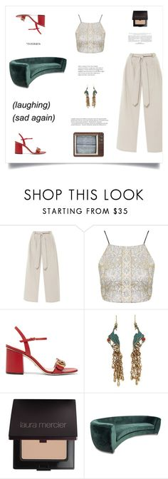 """""""YES FRESA"""" by pablita-power ❤ liked on Polyvore featuring Topshop, Gucci, Lucky Brand, Balmain, Laura Mercier and Retrò"""