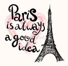 Ilustración con la Torre Eiffel, París Ilustraciones De Stock Sin Royalties Gratis