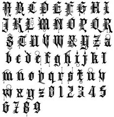 Tattoo Lettering Alphabet, Graffiti Lettering Fonts, Lettering Design, Karma Tattoo, Text Tattoo, Alfabeto Tattoo, Cursive Letters Fancy, Graphic Design Letters, Unique Tattoos For Men
