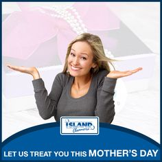 Let us treat you this Mother's Day.  We are offering a special on Ladies' dry cleaning services for the entire month of May to celebrate Mother's Day.  Find out more at Island Cleaners.  #IslandCleaners #Mothersday #specials #drycleaning #ladiesgarments #caymanislands