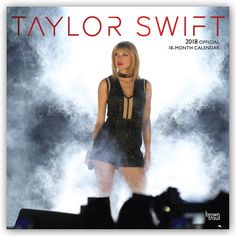 Taylor Swift 2018 12 x 12 Inch Monthly Square Wall Calendar with Foil Stamped Cover