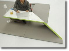 Another greak idea - fold up a desk anywhere in your office!